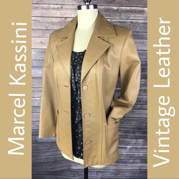 Marcel Kassini Jackets & Blazers - Vintage Marcel Kassini Leather Jacket
